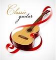 classic guitar as clef symbol