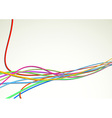 Colorful bright cable background - rapid speed vector image vector image