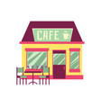 cute cafe building exterior isolated on white vector image vector image