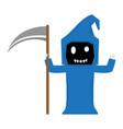 cute halloween reaper cartoon character vector image vector image