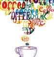 Cute vintage coffee social concept vector image vector image