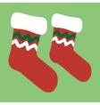 drawing a christmas socks vector image