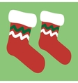 drawing of a christmas socks vector image vector image