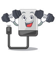 fitness hard drive in shape of mascot vector image vector image