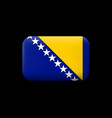 flag of bosnia and herzegovina matted icon and vector image vector image