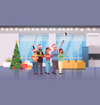friends celebrating christmas party taking selfie vector image vector image
