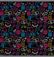 friendship day seamless pattern friend party icons vector image