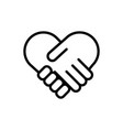 handshake icon deal icon vector image