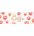 happy womens day horizontal banner vector image vector image