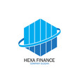 hexa finance for company logo vector image vector image