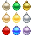 isolated christmas balls set vector image vector image