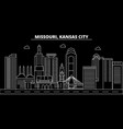 kansas city silhouette skyline usa - kansas city vector image vector image