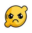 kawaii cute angry lemon fruit vector image vector image