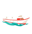 leisure ship on the water vector image vector image