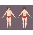 Man body in front and back pose vector image