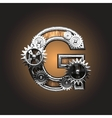 Metal figure with gearwheels vector