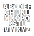 minimalistic geometric font in soft colours vector image vector image