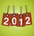 new 2012 year tags vector image vector image