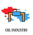oil factory icon symbol oil vector image vector image
