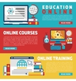 Online education training courses or webinars vector image vector image