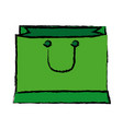 paper gift bag handle shopping image vector image