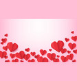 paper hearts valentines day poster with flying vector image