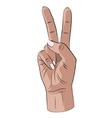 Peace hand gesture vector image vector image