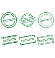 private stamps vector image
