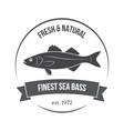 seabass label vector image vector image