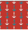 seamless pattern with anchor vector image