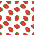 seamless pattern with strawberries and leaves vector image vector image