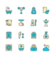Set color line icons of bathroom vector image