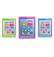 set color tablet computers vector image vector image