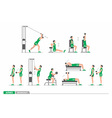 Set of workout for arms vector image