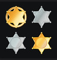 sheriff badge star set different types vector image vector image