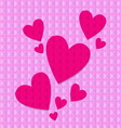 Shocking pink hearts vector image