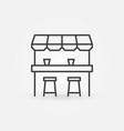 street bar outline icon - design element vector image vector image