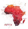 stylized map of africa vector image