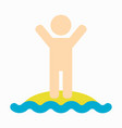 summer holiday people in the beach design vector image vector image