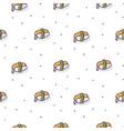 sushi shrimp seamless pattern vector image