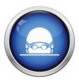 Swimming man head icon vector image vector image