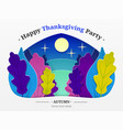 thanksgiving autumn forest trees in vector image vector image