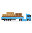 truck semi trailer concept 01 vector image vector image