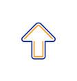 upload arrow line icon direction arrowhead vector image