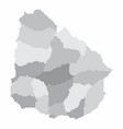 uruguay regions map vector image vector image