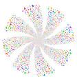 user fireworks swirl flower vector image vector image
