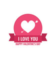 valentine s day fall in love concept vector image