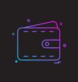 wallet icon design vector image