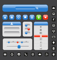 Web design elements template vector image