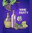 wine tasting party vector image